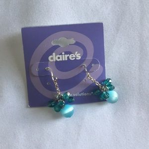 Claire's light blue earrings